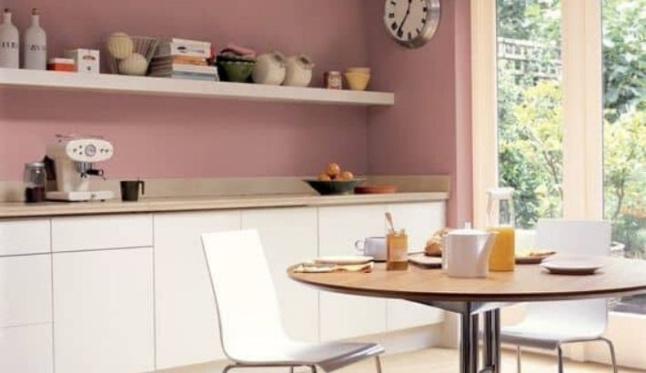 EL color rosa para una cocina especial