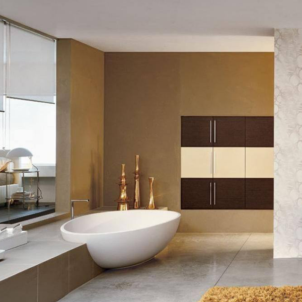 baño color beige