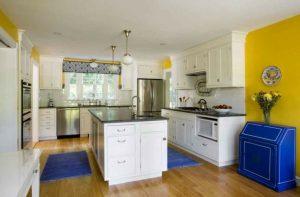 cocina amarillo con azul