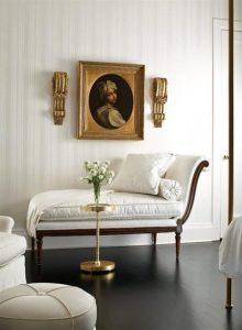 interior blanco con dorado
