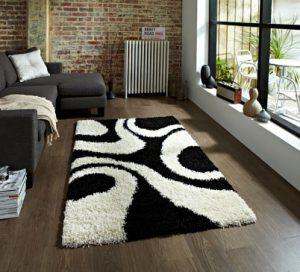 alfombra con textura en sala