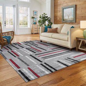 sala de estar con alfombra decorativa