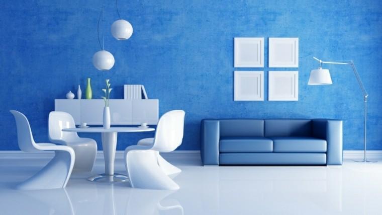 ¿Cómo combinar azul y blanco en una habitación?