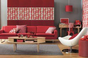 Elige los rojos perfectos para el interior de tu hogar