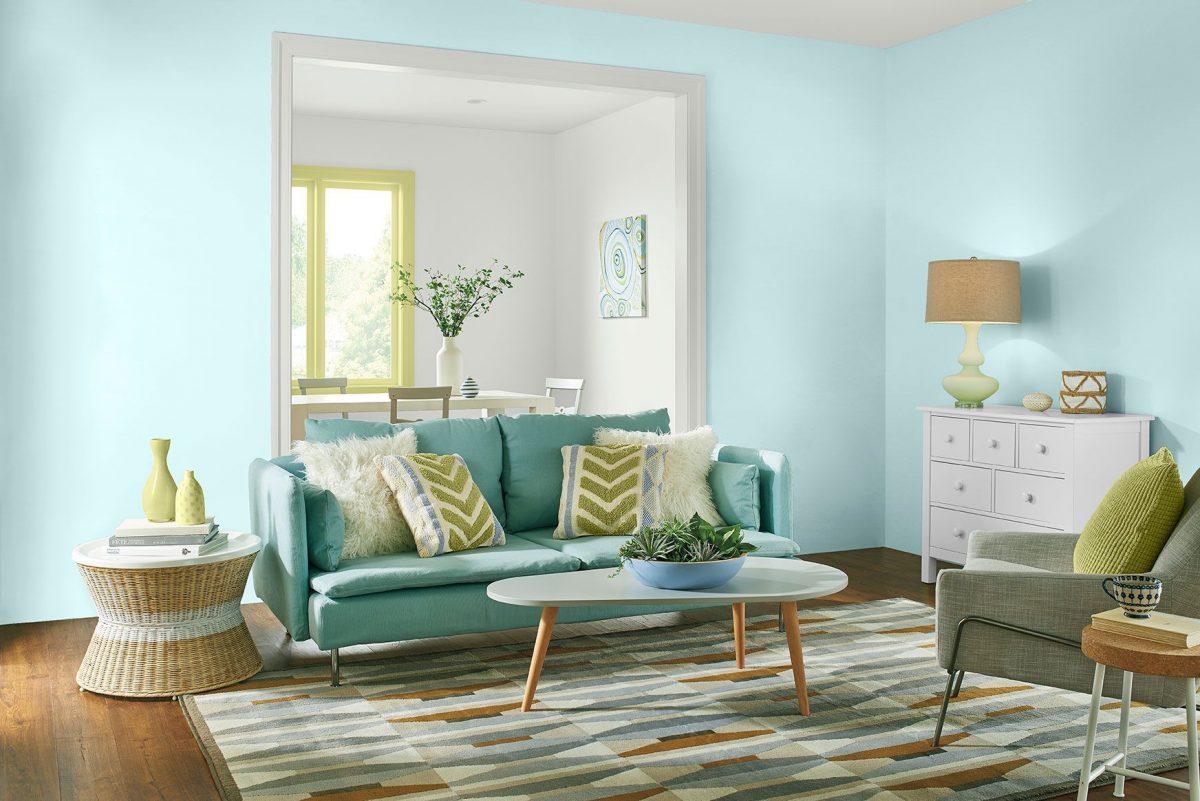 Pinta de azul los interiores de tu hogar este 2021