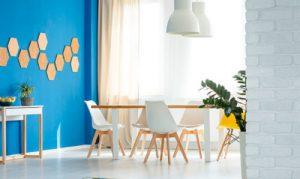 Combinaciones inusuales con azul para interiores