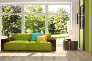 ¿Cómo añadir el color verde a una habitación?