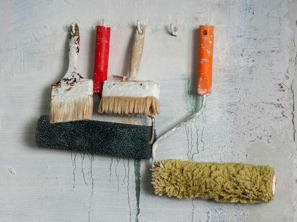 herramientas viejas para pintar